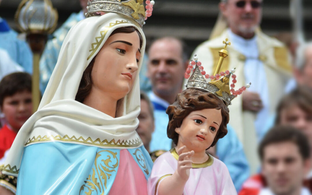 Santa Misa de liberación en Cañuelas junto a la Virgen peregrina de San Nicolás